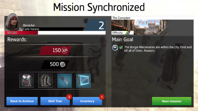 Our suggestion for improving player flow into the next mission