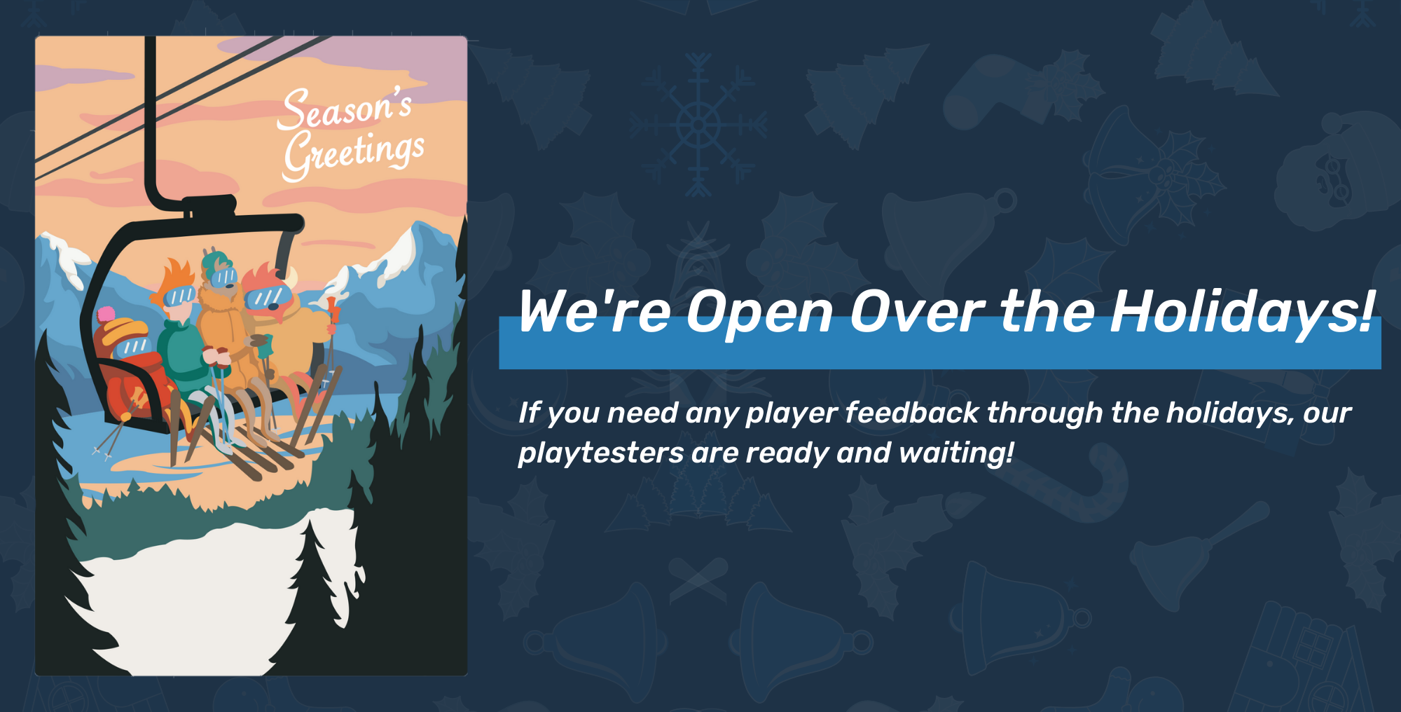 Happy Holidays from your friends at PlaytestCloud!