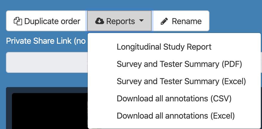 Long-Study-Reports